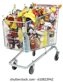 SHOPPING TROLLEY / GROCERY CART CUT OUT