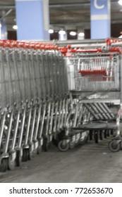 shopping trolley, shopping, metal