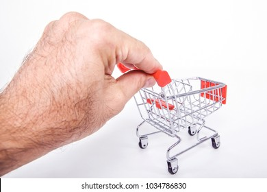 Shopping Trolley over a plain white background.