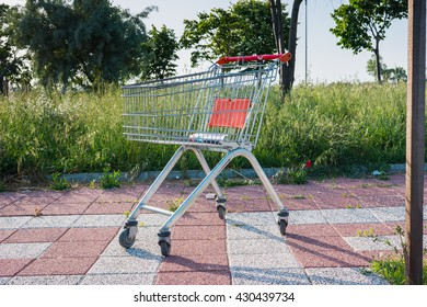 Shopping trolley in the street