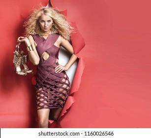 Shopping woman concept