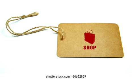 81ec548390 Blank Tag Tied Brown String Isolated Stock Photo (Edit Now) 99438875 ...