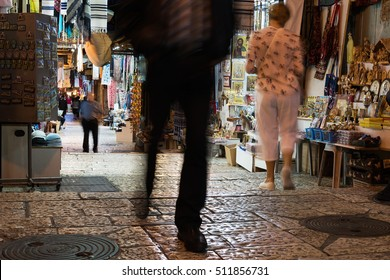 Shops in Jerusalem old city, Israel.