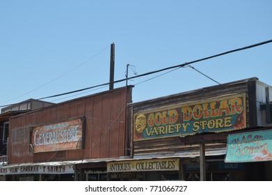 Shops in Oatman On Route 66. June 21, 2017. Oatman, Arizona, USA, EEUU.