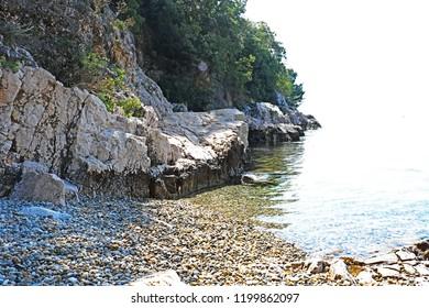 A shore at the Adriatic sea