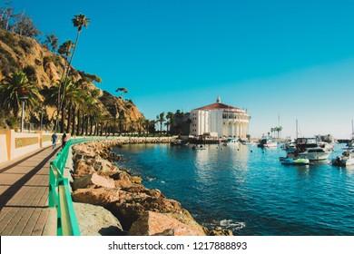 Shore at Avalon, Catalina Island, California.