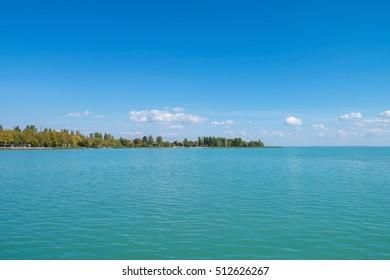 Shore of Lake Balaton in Balatonfured, Hungary