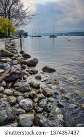 Shore of Lake Zurich, Switzerland