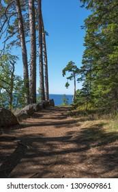 The shore of the skete of Alexander Svirsky_1. The wonderful island Valaam is located on Lake Lodozhskoye, Karelia. Balaam - a step to heaven