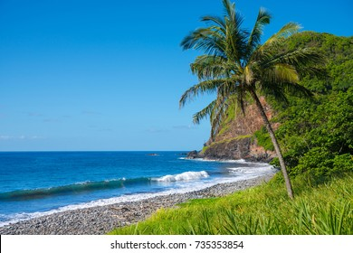 Shore at south coast of Maui Hawaii USA