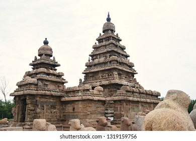 """""""Shore Temple of Pallava Dynasty, viewing from the south western corner, Mahabalipuram, Tamilnadu, South India"""""""