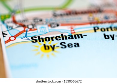Shoreham-by-Sea. United Kingdom on a geography map