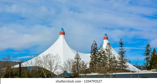 Shoreline Amphitheatre - an outdoor amphitheater located in Mountain View, California.