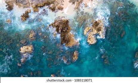 Shoreline in Baja California Sur in Mexico