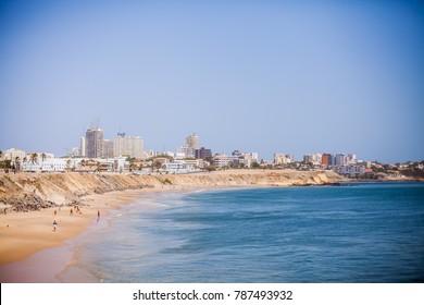 Shoreline of Dakar, Senegal.