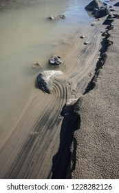 Shoreline erosion in Auyuittuq National Park, Nunavut, Canada