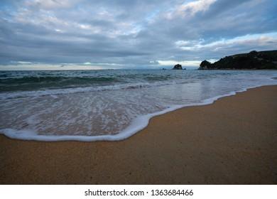 The shoreline at Little Kaiteriteri beach in New Zealand