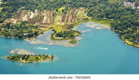 Shoreline of Santiago   Lake Atitlan in Guatemala, Central America