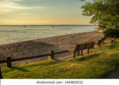 Shoreline View of Verona Beach at Oneida Lake