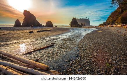 Shoreline Views, Ruby Beach in Olympic National Park Washington