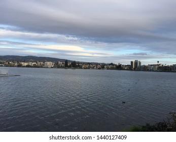Shores of Lake Merritt in Oakland, California.