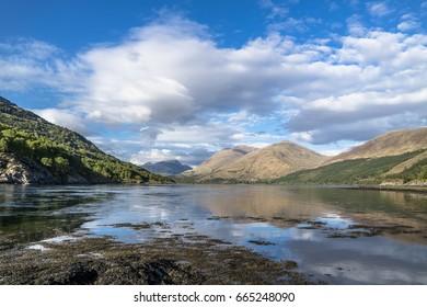 Shores of Loch Creran by the Loch Creran bridge, Argyll, Scotland