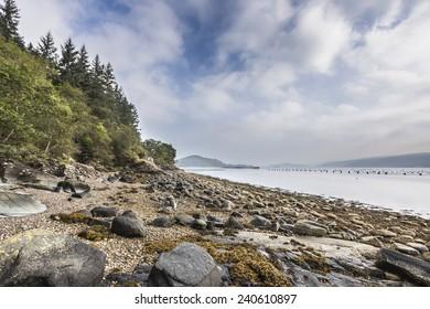 Shores of Loch Fyne in Scotland.
