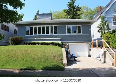 Shorewood, Wisconsin - 06/03/2017: Elizabeth Murphy Residence. Architect Frank Lloyd Wright. Built 1917. American System Built House.