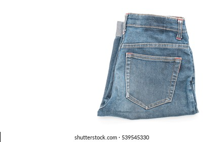 short jean on white background