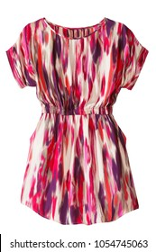 short sleeve abstract pattern dress