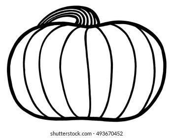 Short, squat pumpkin.
