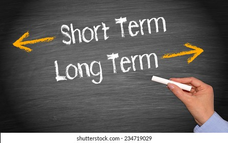 Short Term and Long Term - Business Concept
