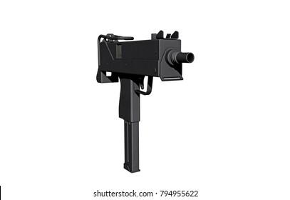 short weapon 3D rendering