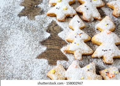 shortbread cookies for Christmas, food