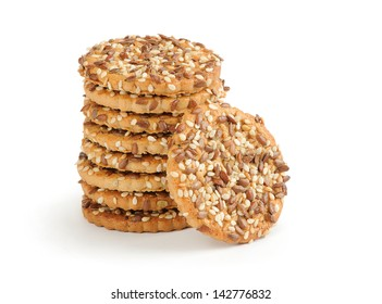 shortbread cookies with flax seeds