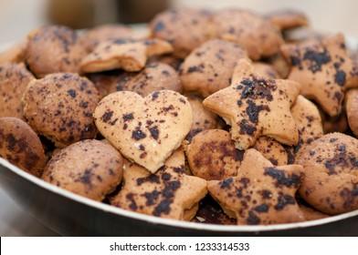 shortbread cookies handmade close up