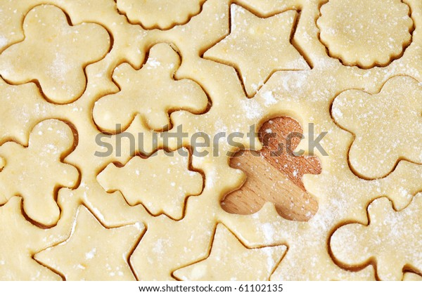 Shortcrust pastry, close up