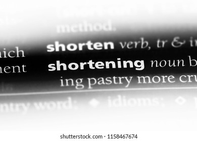 shortening word in a dictionary. shortening concept.
