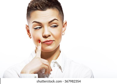 Short Hair Girl Images, Stock Photos & Vectors | Shutterstock