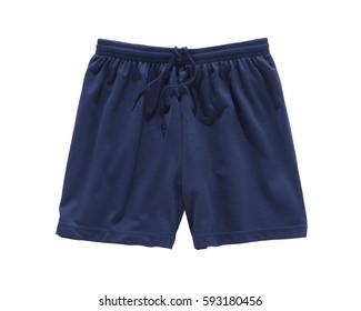 shorts blue isolated on white
