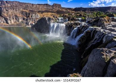 Shoshone Falls Double Rainbow in Twin Falls Idaho