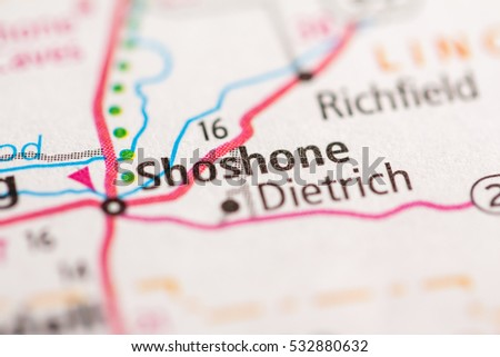 Shoshone Idaho Map.Shoshone Idaho Usa Stock Photo Edit Now 532880632 Shutterstock