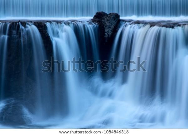Shoshone Waterfall Idaho cascading water evening scenic