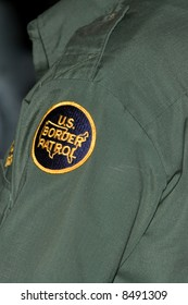 Shot of the arm badge of a Border Patrol Agent.