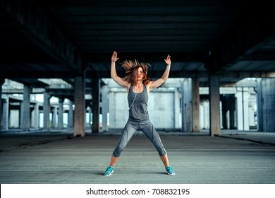 Shot of an athlete woman warming up for a workout.