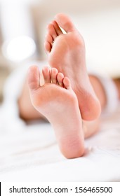 Shot of barefoot feet ready for a foot massage