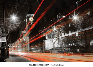 shot of big ben from the road