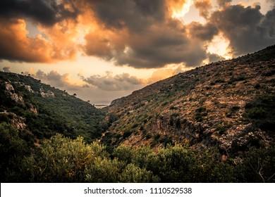 A shot of the Carmel ridge, Israel