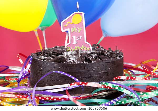 Super Shot Chocolate Birthday Cake Candle Stock Photo Edit Now 103953506 Birthday Cards Printable Trancafe Filternl