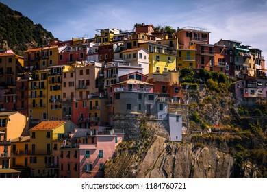 A shot of Cinque terre village, Italy.
